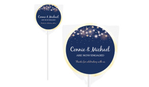 Night Lights Personalised Engagement Lollipops