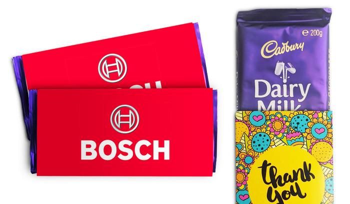 Cadbury 180g Chocolate Bar With Personalised Sleeve