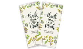 Floral Thank You Personalised Chocolate Bars