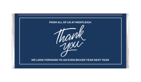 Navy Blue Thank You Personalised Chocolate Bar