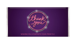 Neon Sign Thank You Personalised Chocolate Bar