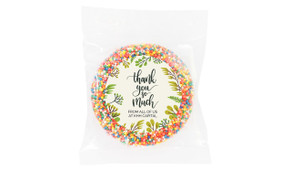 Floral Thank You Chocolate Freckle