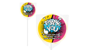 Fun Sunburst Personalised Thank You Lollipop