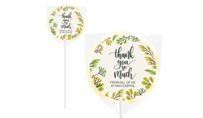 Floral Personalised Thank You Lollipop