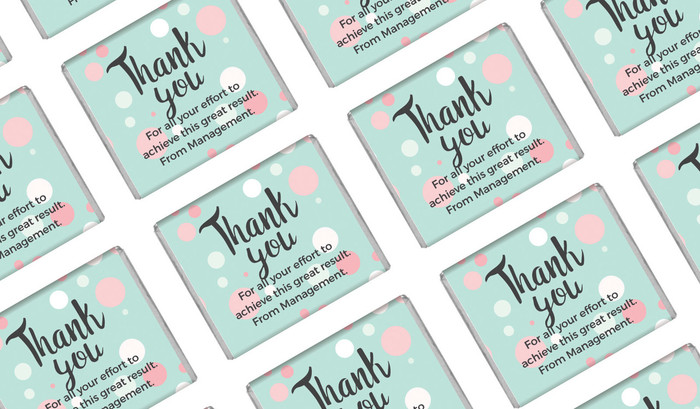 Dots Personalised Thank You Mini Chocolate