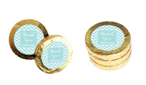 Chevron Personalised Thank You Chocolate Coins