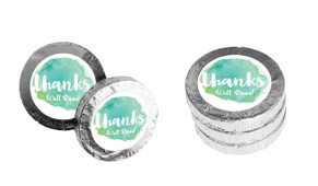 Watercolour Thank You Personalised Thank You Chocolate Coins