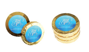 Cursive Personalised Thank You Chocolate Coins