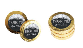 Confetti In Silver Personalised Thank You Chocolate Coins