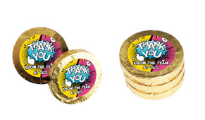 Fun Starburst Personalised Thank You Chocolate Coins