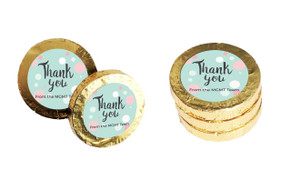 Dots Personalised Thank You Chocolate Coins