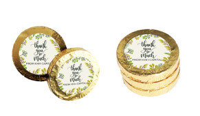 Floral Personalised Thank You Chocolate Coins