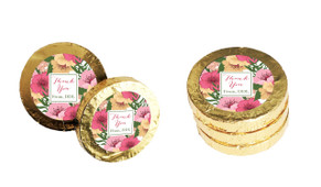 Spring Flowers Personalised Thank You Chocolate Coins