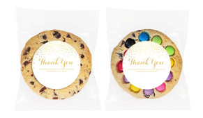 Gold Confetti Personalised Giant Cookie 80g