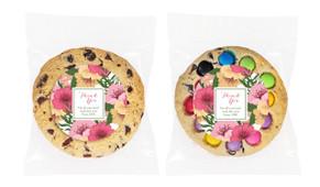 Spring Flowers Personalised Cookie 80g