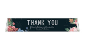 Floral Border On Black Thank You Toblerone Chocolates