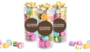 Let Us Design For You Personalised Assorted Rock Candy Tube