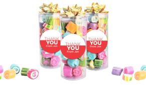Contemporary Thank You Custom Rock Candy Tube