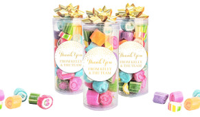 Gold Confetti Thank You Custom Rock Candy Tube