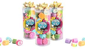 Fun Starburst Thank You Custom Rock Candy Tube