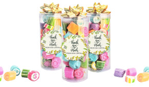 Floral Thank You Custom Rock Candy Tube