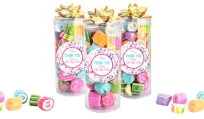 Fresh Floral Thank You Custom Rock Candy Tube
