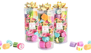 Spring Flowers Thank You Custom Rock Candy Tube