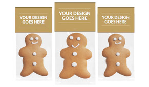 Use Your Own Design Gingerbread Man With Custom Topper