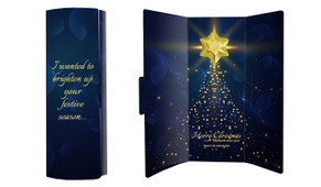 Blue Night Christmas Chocolate Greeting Card