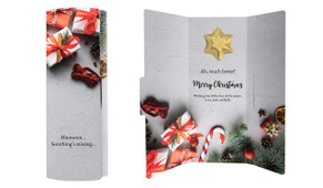 Christmas Background Chocolate Greeting Card