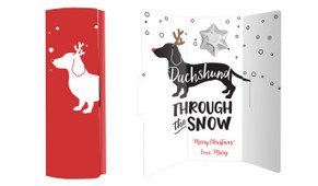 Dachshund Through The Snow Chocolate Greeting Card
