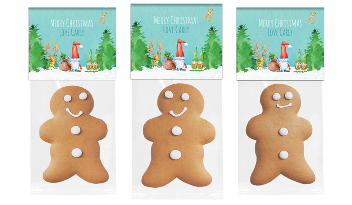 A Watercolour Christmas Gingerbread Man With Custom Topper