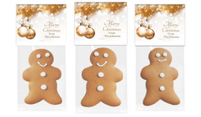 Bronze Baubles Gingerbread Man With Custom Topper