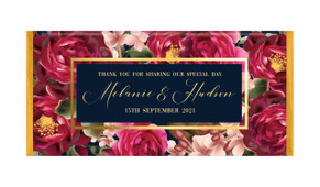 Bold Floral Personalised Wedding Chocolate Bars