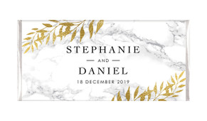 Marble And Fern Personalised Wedding Chocolate Bars