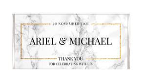 Marble Gold Frame Personalised Wedding Chocolate Bars