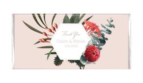 Wildflowers Light Personalised Wedding Chocolate Bars