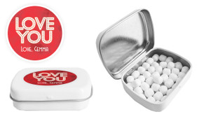 Glowing Love You Personalised Valentines Day Mint Tin
