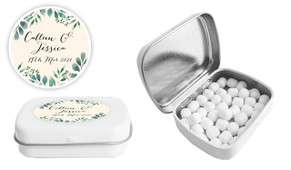 Branches On Cream Wedding Personalised Mint Tin