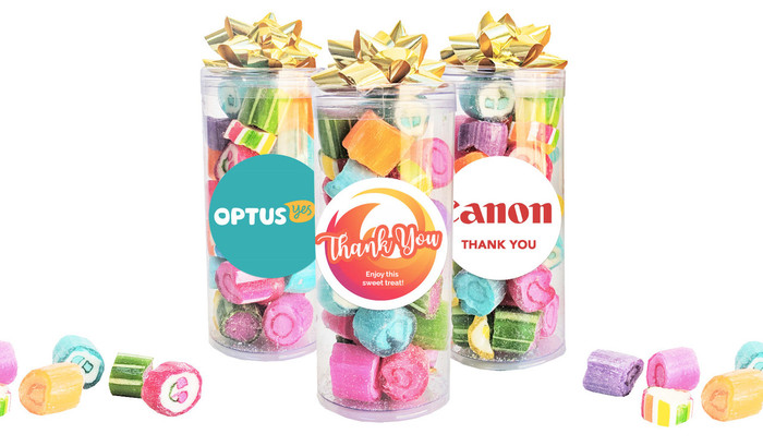 Personalised Assorted Rock Candy Tube