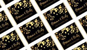 Gold Leaves Personalised Mini Chocolates