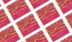Regal Pink And Gold Personalised Mini Chocolates
