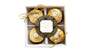 Art Deco Wedding Personalised Ferrero Rocher Gift Box