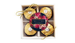 Bold Floral Wedding Personalised Ferrero Rocher Gift Box