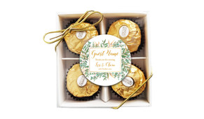 Leaves On Gold Personalised Ferrero Rocher Gift Box