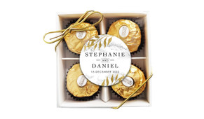 Marble And Fern Personalised Ferrero Rocher Gift Box