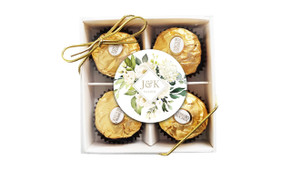 Diamond On White Roses Custom Ferrero Rocher Gift Box