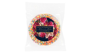 Bold Floral Personalised Giant Chocolate Freckle