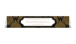 Art Deco Toblerone Wedding Personalised Chocolates