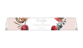 Wild Flowers Light Toblerone Wedding Personalised Chocolates